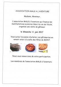 vente de patisseries
